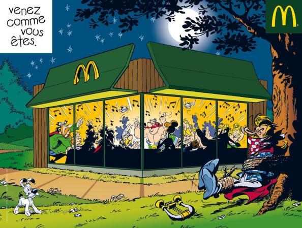 Pub : Le banquet d'Astérix et Obélix au Mc Do !