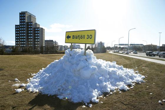 Blafjöll: Snow