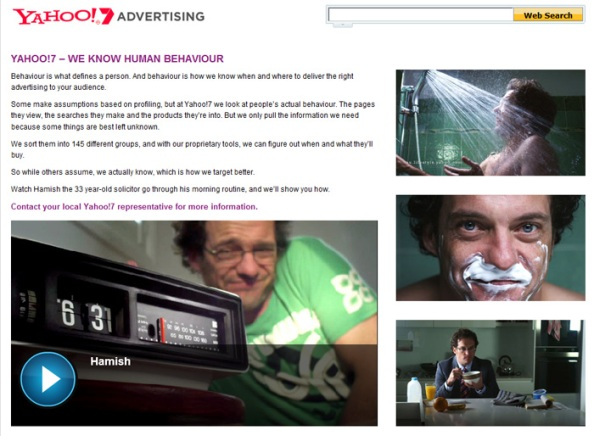 "Yahoo! 7 Advertising propose le ""vrai"" ciblage comportemental"