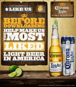 Page Fan de Corona Lite