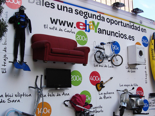 eBay : affichage alternatif dans Madrid