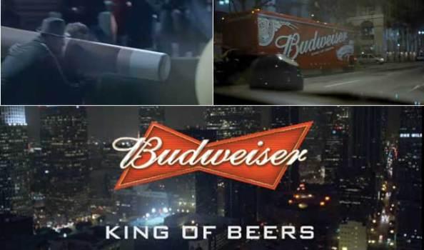 Drôle de promotion de la bière Budweiser