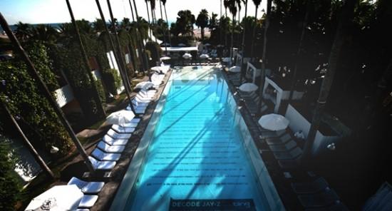 """Jay-Z """"Decoded"""": piscine du Delano Hôtel-Miami"""