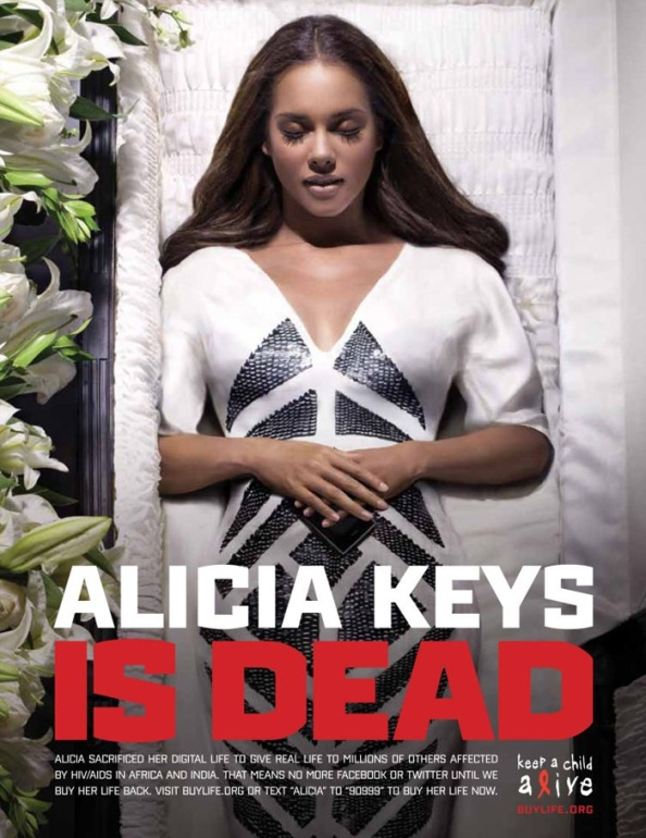 Alicia Keys is (digitaly) dead