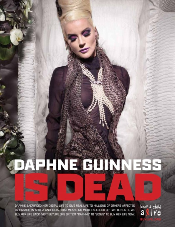 Daphne Guinness is (digitaly) dead