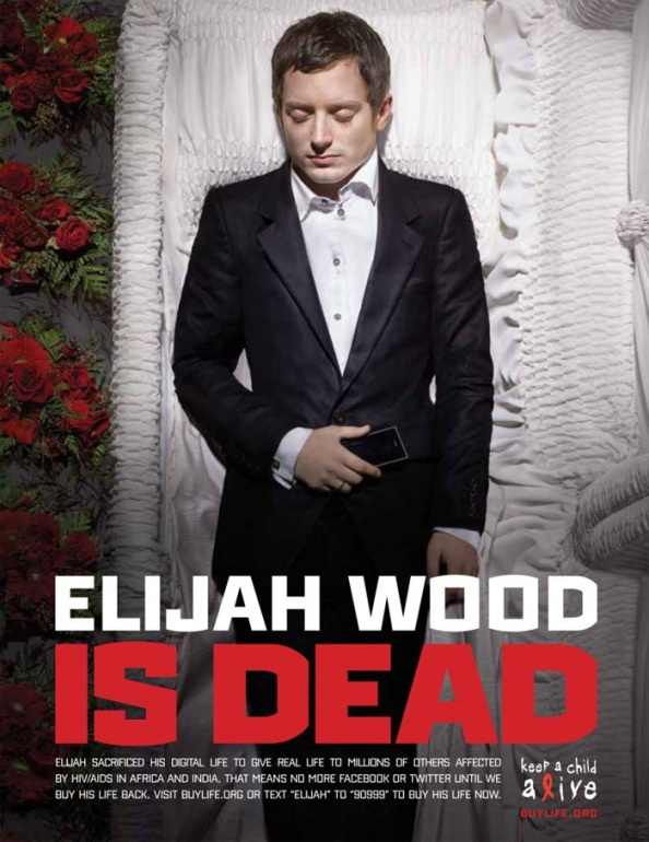 Elijah Wood is (digitaly) dead