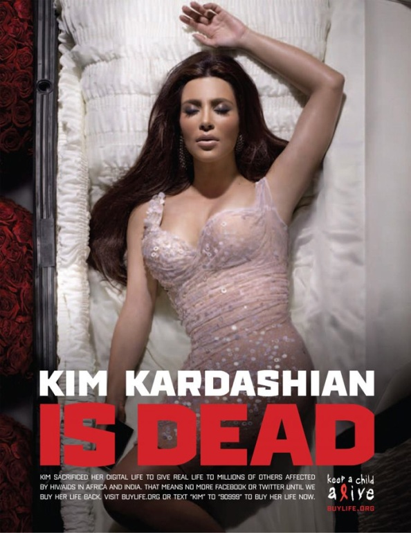 Kim Kardashian is (digitaly) dead