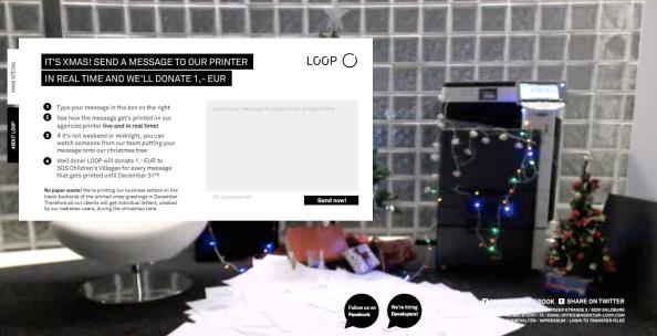 Loop: Webcam sur le sapin et l'imprimante de l'agence