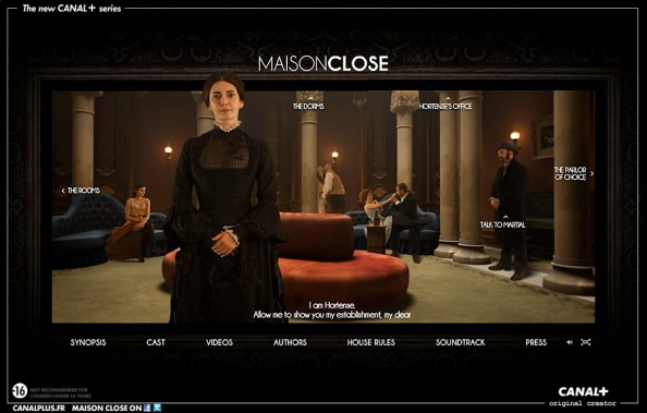 La série Maison close: site web primé au FWA