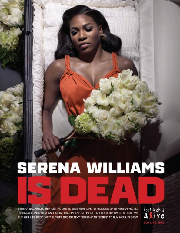 Serena Williams is (digitaly) dead